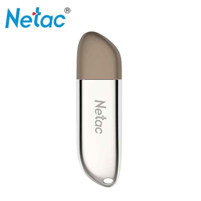 Netac métal USB3.0 128 GB Mini clé USB clé usb clé nouvelle clé usb lecteur de disque logo bricolage USB 3.0 clé usb chiavetta