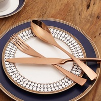 Hoomall 4PCS Set Western Style Cutlery Dinnerware Set High Quality Stainless Steel Tableware Restaurant Home Kitchen