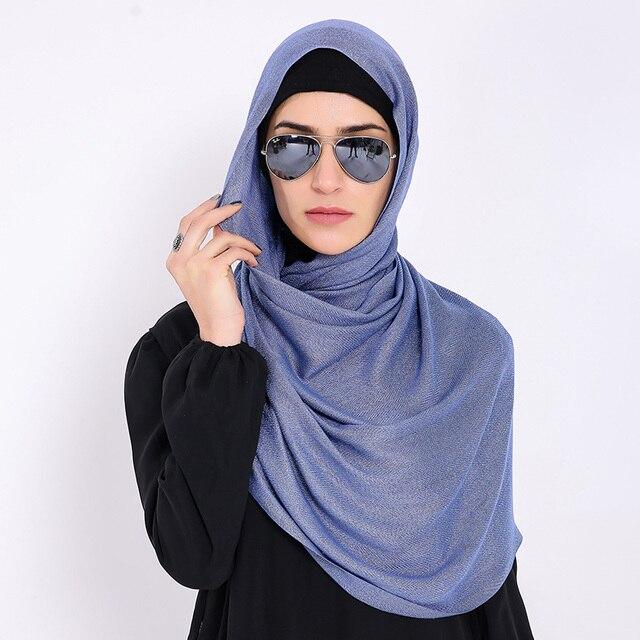 Neue Muslimische Gold Draht Lurex Schal Luxus Marke Frauen Schal ...