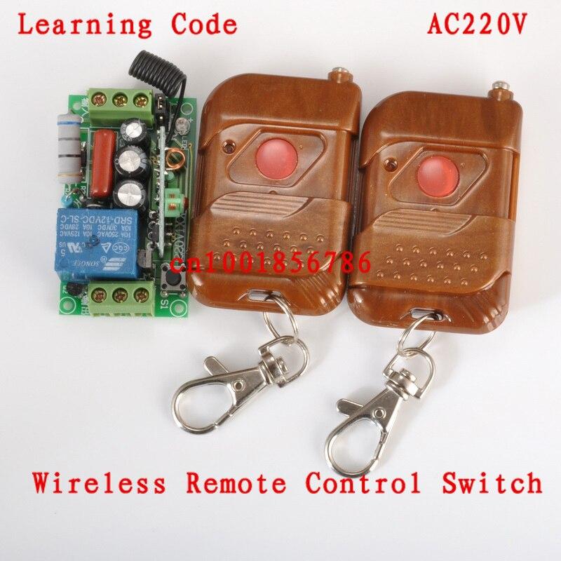 220V 1CH M4/L4/T4 Change by Jumper 1000W Waterproof Remote Light Switch Latched Wireless Power Switch Receiver &2 Transmitter change translated by howard goldblatt