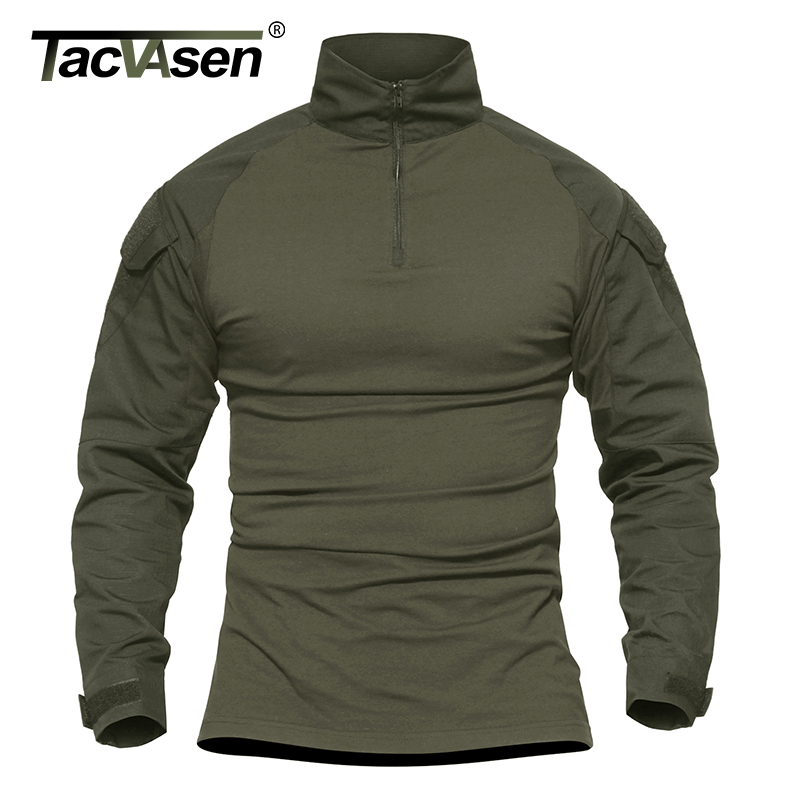 TACVASEN Men Camouflage Tactical T shirts Army Green Combat T Shirt Men  Long Sleeve Military T Shirt Men s Hunt T shirts Outwear-in T-Shirts from  Men s ... 82cf1eb2272