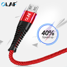 OLAF Micro USB Cable Nylon Fast Charge USB Data Cable Cord for Samsung Xiaomi
