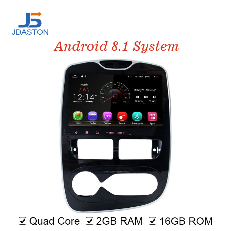 JDASTON Android 8 1 Car DVD Player For RENAULT Clio 2015 2016 2017 WIFI GPS Navigation