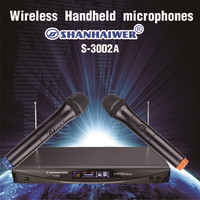 Good Quality Dual Channel Wireless Handheld Microphone Easy To Use Handheld VHF Wireless System OEM Customized