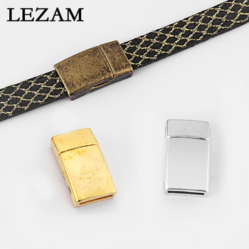 5 Sets Antique /Gold/Bronze Magnetic Clasp For 5mm 10mm Flat Leather Cord Bracelet Jewelry Accessories