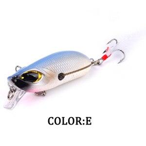 Image 5 - 1pcs Topwater fishing은 깃털로 5.5cm 8.26g 미노우 하드 베이트를 유혹합니다. Crankbait CrankArtificial Wobblers Fishing Tackle