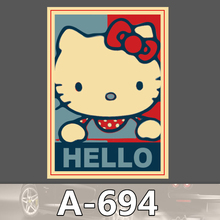 A 694 Hello Kitty Waterproof Cool DIY Stickers For Laptop Luggage Fridge Skateboard Car Graffiti Cartoon
