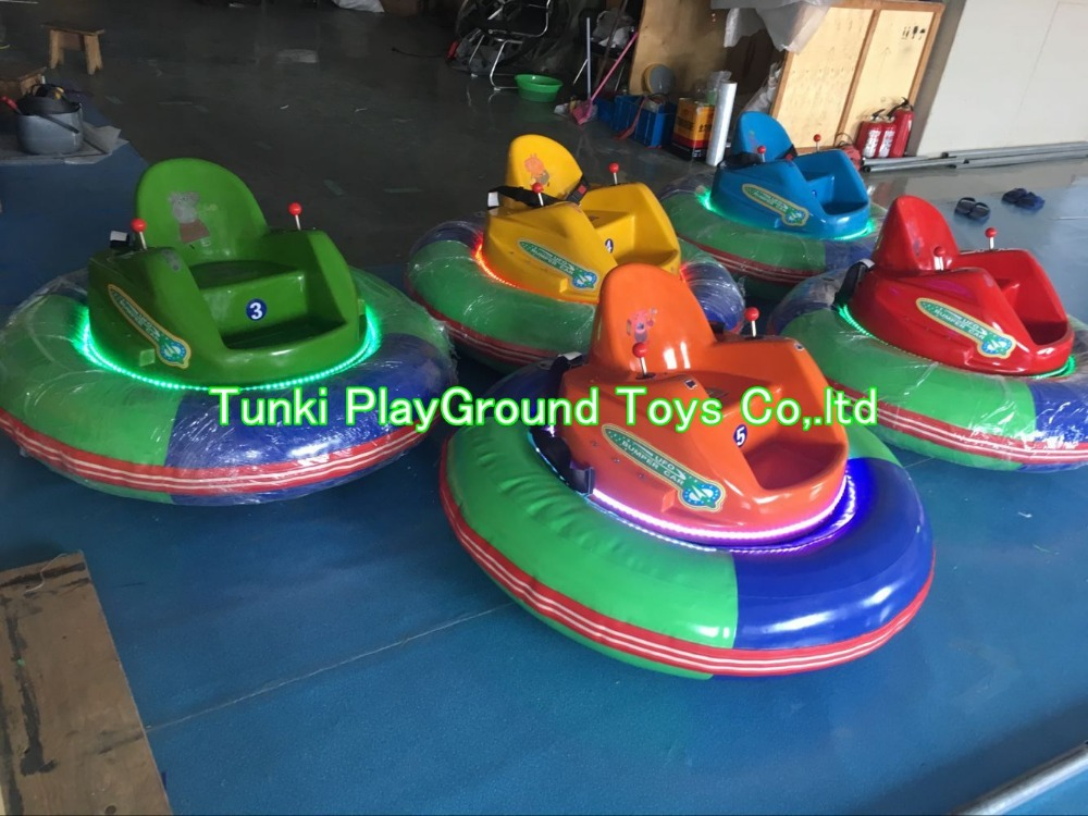 Amusement Park Kids Ride, Stainless Steel Inflatable Battery Middle Bumper Car