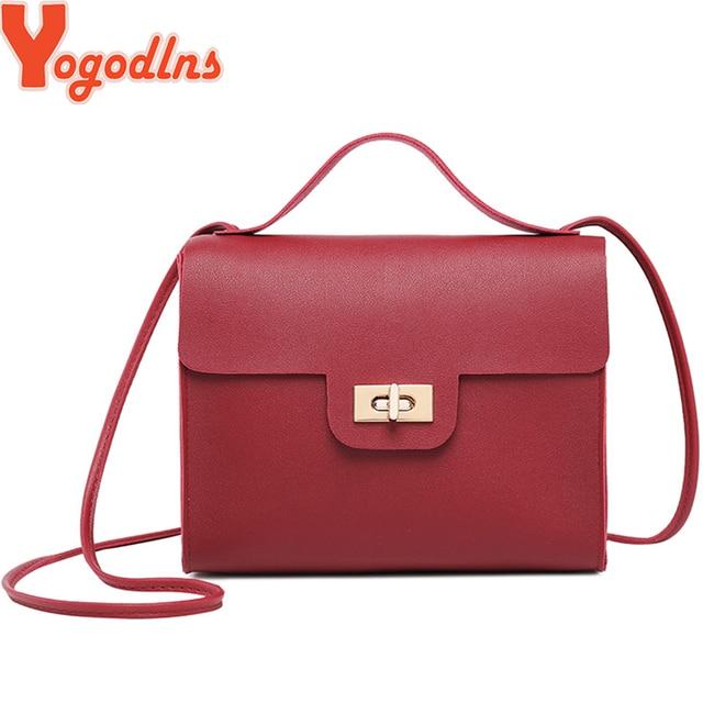 Yogodlns Small Women Bag PU leather Messenger Bag Clutch Bag Designer Mini Shoulder  Bag Women Handbag 11fe3899169f6