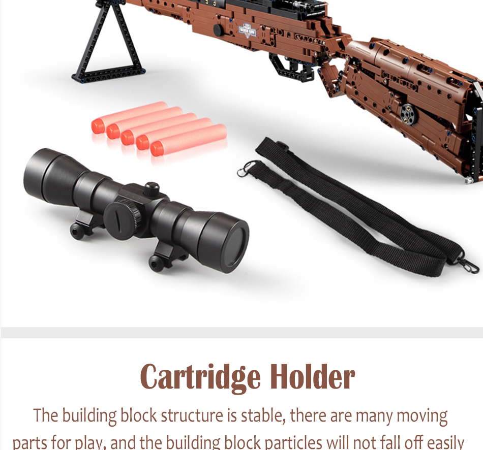 cada building blocks technic gun toy models & building toy gun model 98k bricks educational toys for children ww2 toys for kids 21