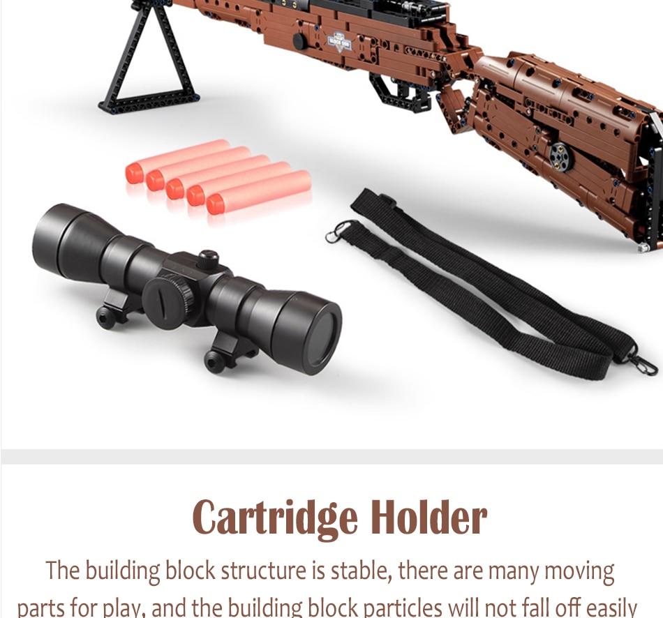 cada building blocks technic gun toy models & building toy gun model 98k bricks educational toys for children ww2 toys for kids 83