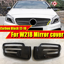 For Mercedes Benz W218 Side mirror cover Carbon fiber black CLS Class CLS350 CLS400 500 CLS63AMG look 1:1 Replacement 2012-2016 free shipping brand new chrome side mirror cover for mercedes benz w219 cls class pre facelifted