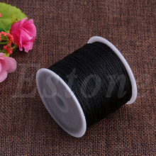 0.8mm Nylon Cord Thread Chinese Knot Macrame Rattail Bracelet Braided String 45M недорого