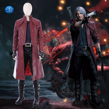 Manluyunxiao New Game DMC 5 Costume Dante Cosplay Costume Deluxe Outfit Halloween Carnival Costume for Men Custom Made resident evil 5 chris cosplay costume custom made