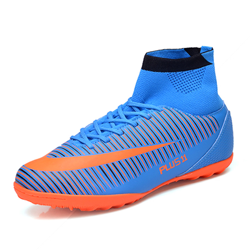 Plus Size 39 46 Men High Ankle Soccer Shoes Indoor ...