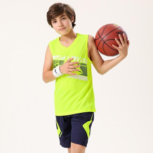 34e94f79c5fed2 Gloednieuwe NIEUWE kinderen sportkleding Set sport shirt teenagers  basketbal jersey Kid Jongens studenten Basketbal Kleding Pak