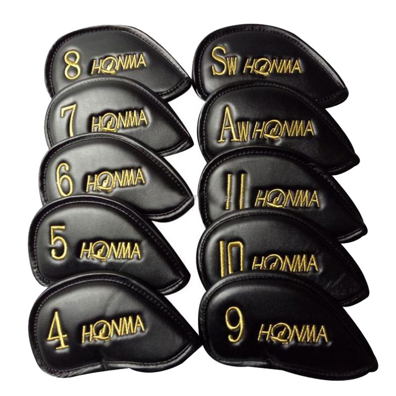 New HONMA Golf Headcover PU Golf Irons Head Cover 4-11 S A Unisex Yellow Or Red Word Clubs Head Cover Cooyute Free Shipping