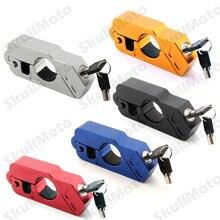 Hot 5 Color de Piezas de Motos Accesorios Caps-Lock Motocicleta CNC De Aluminio Del Manillar Grip Freno Palanca Del Acelerador de Bloqueo de Seguridad