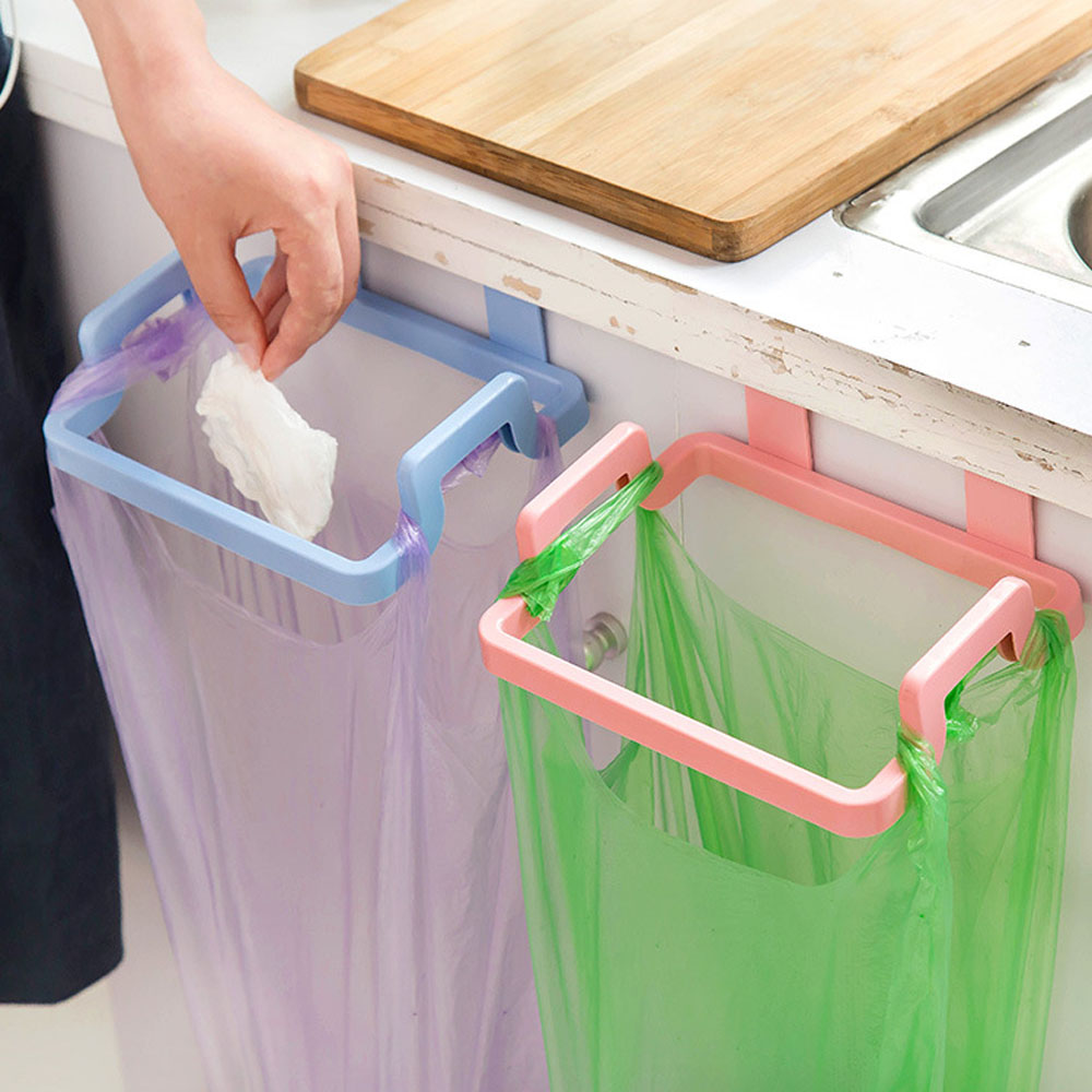 1pair New Bag Hanging Kitchen Cupboard Door Back Style Stand Trash ...