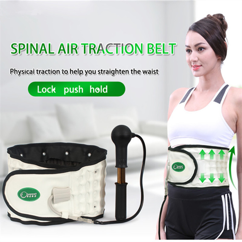 Leawell Upgrade Medical Belt Lumbar Disc Tractor Waist Strain of Lumbar Muscles Massager Massager Lumbar Massage Apparatus fixed thermal shields waist girth dual plate between the waist dish outstanding strain of lumbar muscles waist backache stretch