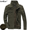 LetsKeep 2016 Air force one Bomber Jackets Men Army military tactical coat mens pilots jackets winter fleece plus size 6XL,MA237