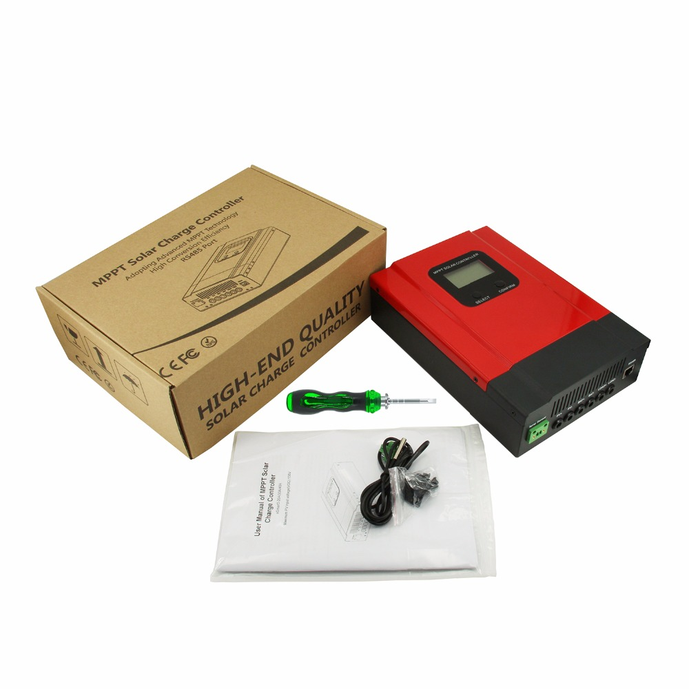 MPPT 60A Solar Laderegler 12V 24V 36V 48V eSmart3-60A Solar Panel Batterie Laderegler mit zurück-licht Display RS485