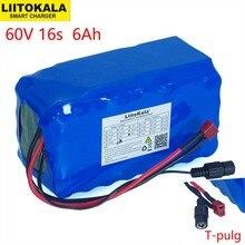 LiitoKala 16S2P 60V 6Ah 18650 리튬 이온 배터리 팩 67.2V 6000mAh Ebike 전기 자전거 스쿠터 20A 방전 BMS 1000 와트