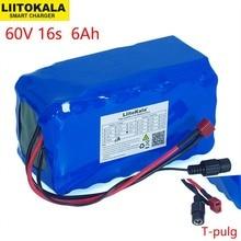 LiitoKala 16s2p 60 فولت 6Ah 18650 بطارية ليثيوم أيون حزمة 67.2 فولت 6000mAh Ebike دراجة كهربائية سكوتر مع 20A تفريغ BMS 1000 واط