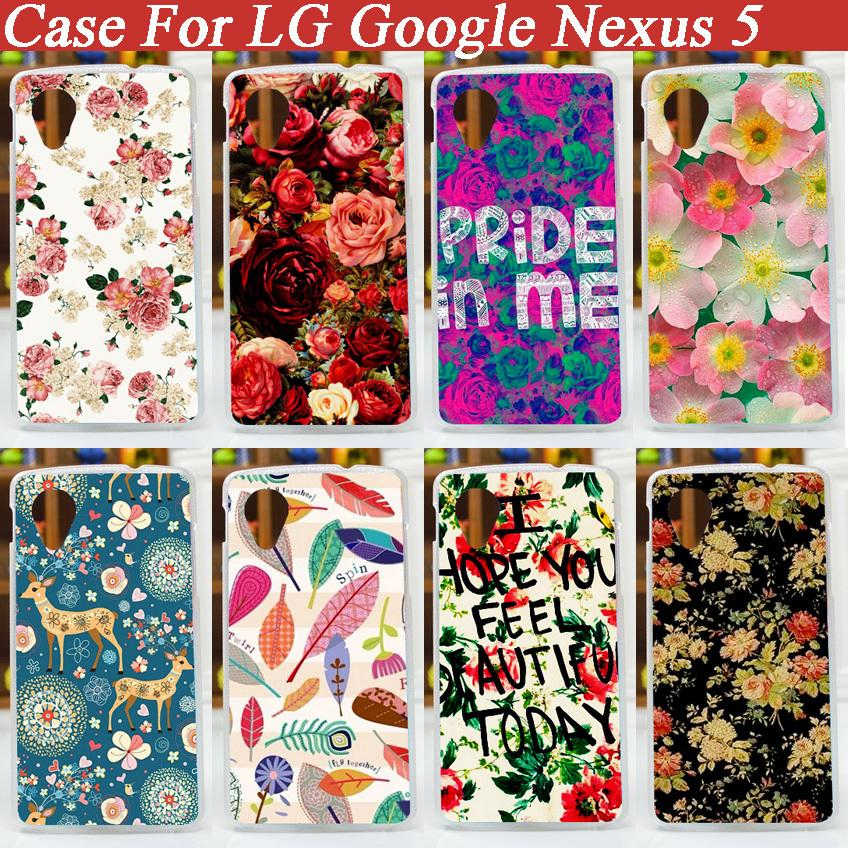15 Patterns Hard Skin Painting Case FOR LG Google Nexus 5 E980 D820 D821 Case Cover/ Diy Colored Case For Nexus 5 Case Cover