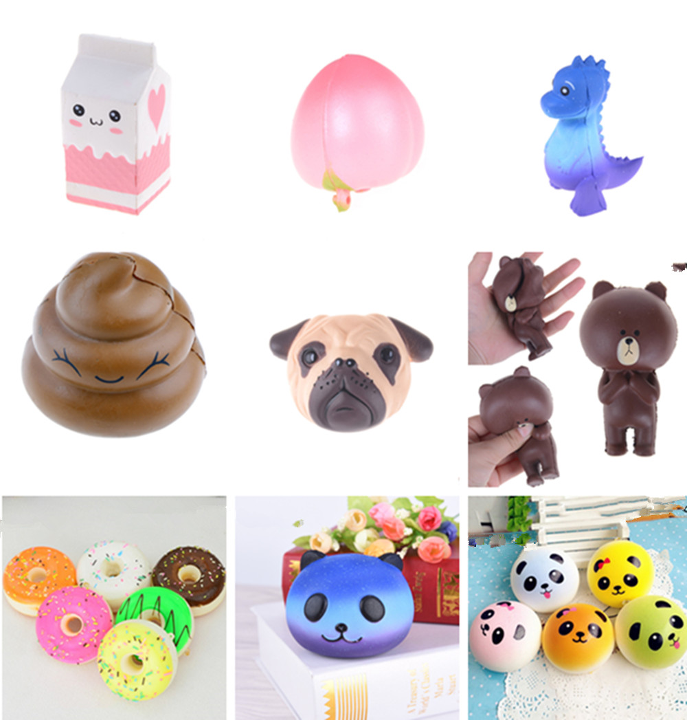 Fun Antistress Ball Peach  Bear Mini Squeeze Squishy Toys Unicorn Slow Rising Squeeze Stretchy Sheep Animal Healing Stress Toys