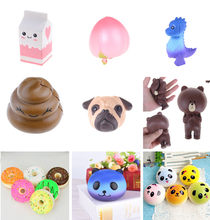 Fun Antistress Ball Peach Bear Mini Squeeze Squishy Toys Unicorn Slow Rising Squeeze Stretchy Sheep Animal Healing Stress Toys(China)