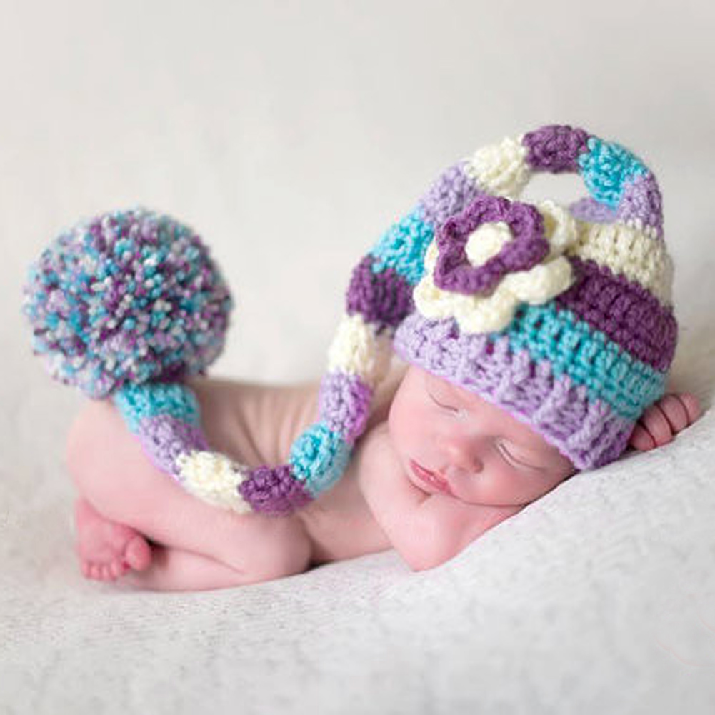 Baby Photo Props Hat Newborn Crochet Baby Costume Photography Props Knitting Baby Hat Baby Photo Hat Cap newborn crochet baby fox orange costume photography props knitting baby hat bow infant baby photo props
