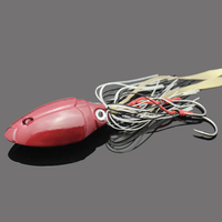 Pecas 150g 200g Handing Lead Head Hook Red Spinnerbait 3D Eyes Big Fishing Lures Buzzbaits Silicone