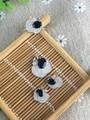 Preto Natural azul safira anel de casamento conjuntos de jóias de pedra natural gemstone brincos S925 colar de prata Moda Formato do Fruto