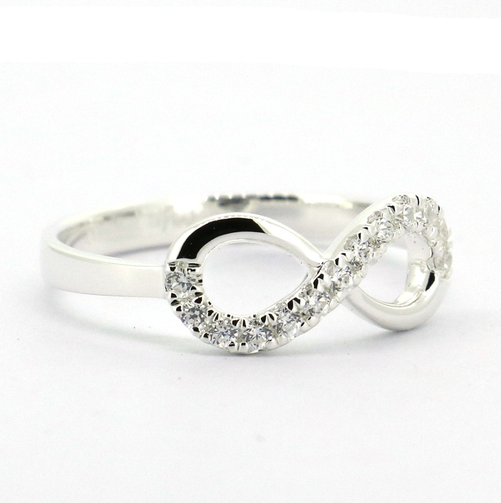 Solid 925 sterling silver infinity ring in rings from jewelry solid 925 sterling silver infinity ring in rings from jewelry accessories on aliexpress alibaba group buycottarizona Choice Image