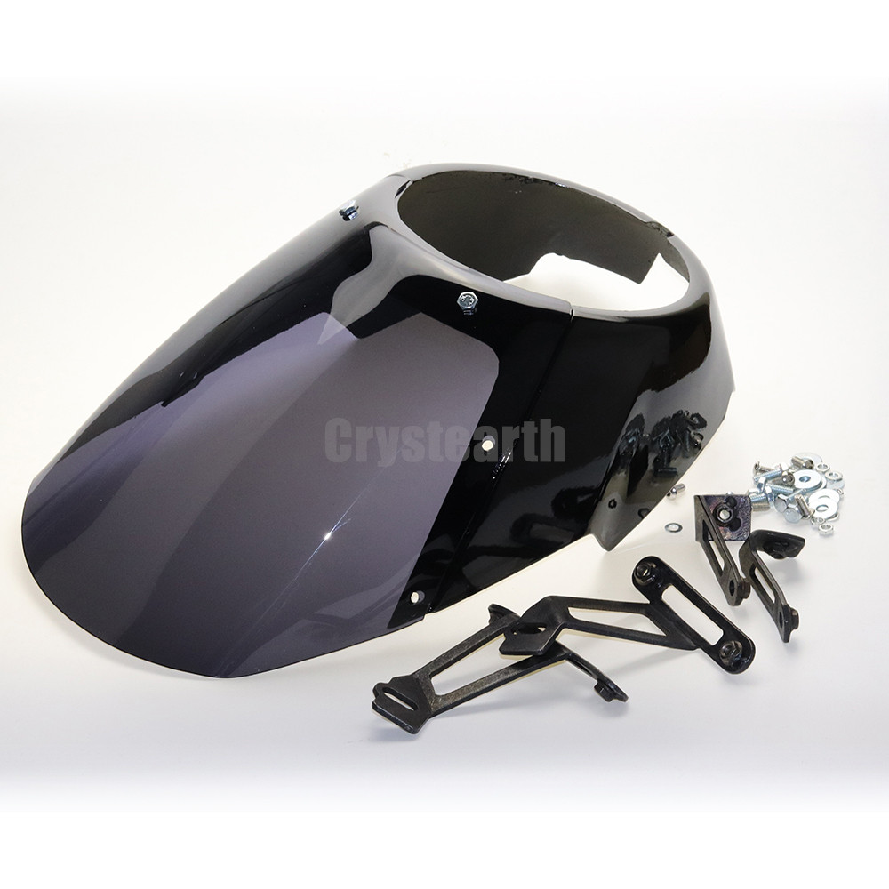 Motorcycle Front Headlight Fairing Cowl Head Light Headlamp Visor Mask Hardware Kit For Victory Octane 2017 scooter abs electroplate front headlight headlamp head light lamp small mask cap cover shield large for yamaha bws x 125 plating