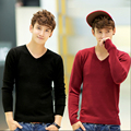 Fashion Designer Men Cashmere Sweaters V-Neck Pullovers shirts Cashmere and wool pullover male zz-003