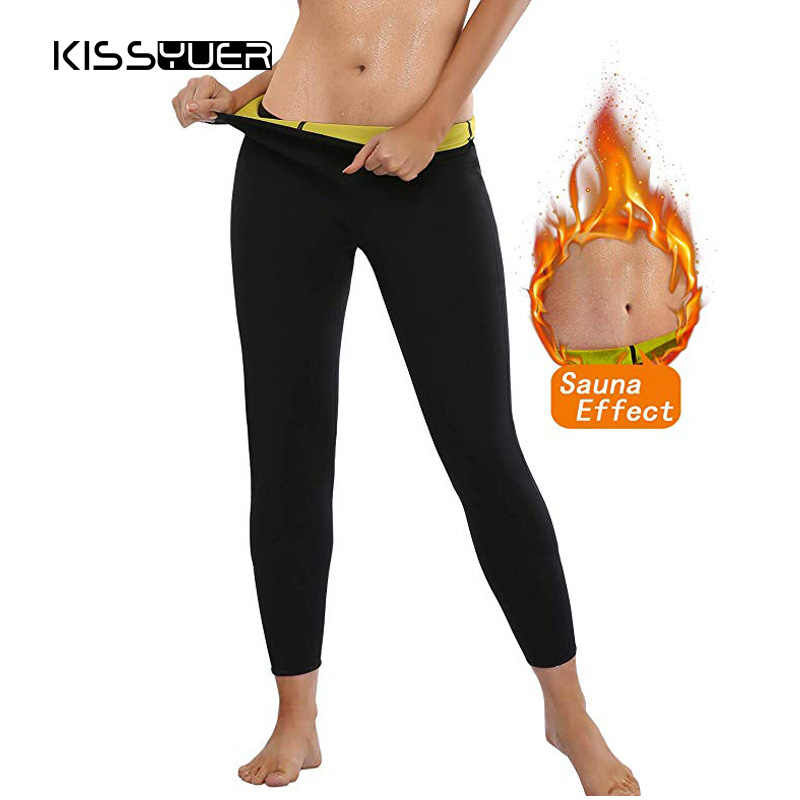 f9b056eb07 Slimming Long Hot Pants Body Shapers for Weight Loss Thermo Neoprene  Slimming Sweat Sauna Pants Control