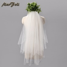 Ivory White champagne New Wedding Formal dresses Fitting Veil T001