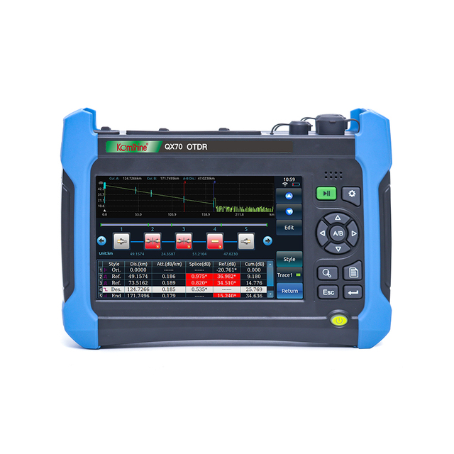 Komshine QX70 MS Singlemode and Multimode 850/1300/1310/1550nm,0.5m event dead zone ,with VFL,OPM,and Link Map function