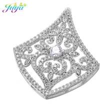 a57975115161 De lujo de oro plata pavimenta la joyería CZ flor flotante conector  accesorios para las mujeres perlas collar pulsera DIY que ha.