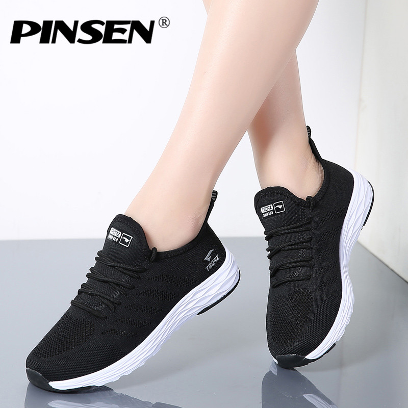 PINSEN 2018 Women Sneakers High Quality Breathable Lace-Up Lover Casual Shoes Woman Flats Shoes Basket Female tenis femininos pinsen fashion women shoes summer breathable lace up casual shoes big size 35 42 light comfort light weight air mesh women flats
