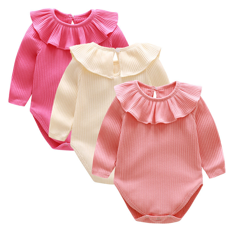 2018 Baby Rompers Summer Baby Girl Clothes Solid Baby Clothing Roupas Bebe Newborn Clothes Infant Jumpsuits Baby Girl Costume 2017 summer baby rompers tuxedo shortall jumpsuit bebe clothing two piece set vest bowtie baby braces rompers kid clothes