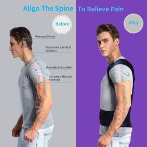 Image 2 - 뒤 자세 교정기 성인 뒤 지원 어깨 허리 받침대 건강 관리 지원 코르셋 뒤 벨트