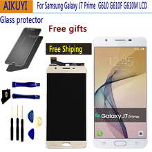 AMOLED For SAMSUNG Galaxy J7 Prime LCD Touch Screen G610 G610F G610M J7 Prime LCD Display Digitizer Assembly Replacement чехол для samsung galaxy j7 prime sm g610f ds skinbox 4people slim silicone прозрачный