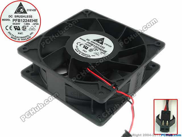 Free Shipping For Delta PFB1224EHE, -6F24 DC 24V 1.08A 2-wire 2-pin 120x120x38mm Server Square fan free shipping 24v dc mig welding wire feeder motor single drive 1pcs