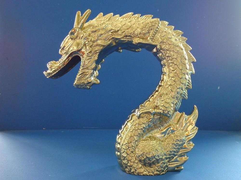 Free shipping Gold PVD clour 5Pcs widespread bathroom dragon tub shower faucet mixer tap dragon handles