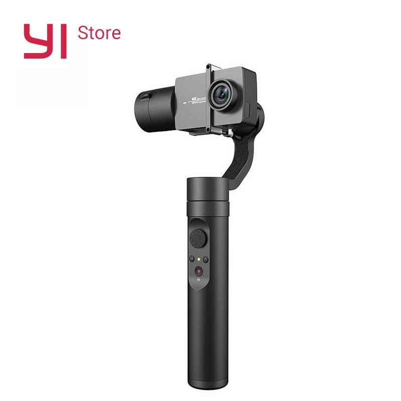 YI Action Gimbal 3 Axis 4 Modes Bluetooth Control 6 8 Hours Battery Handheld Stabilizer for YI 4K Plus 4K YI Lite Action Camera