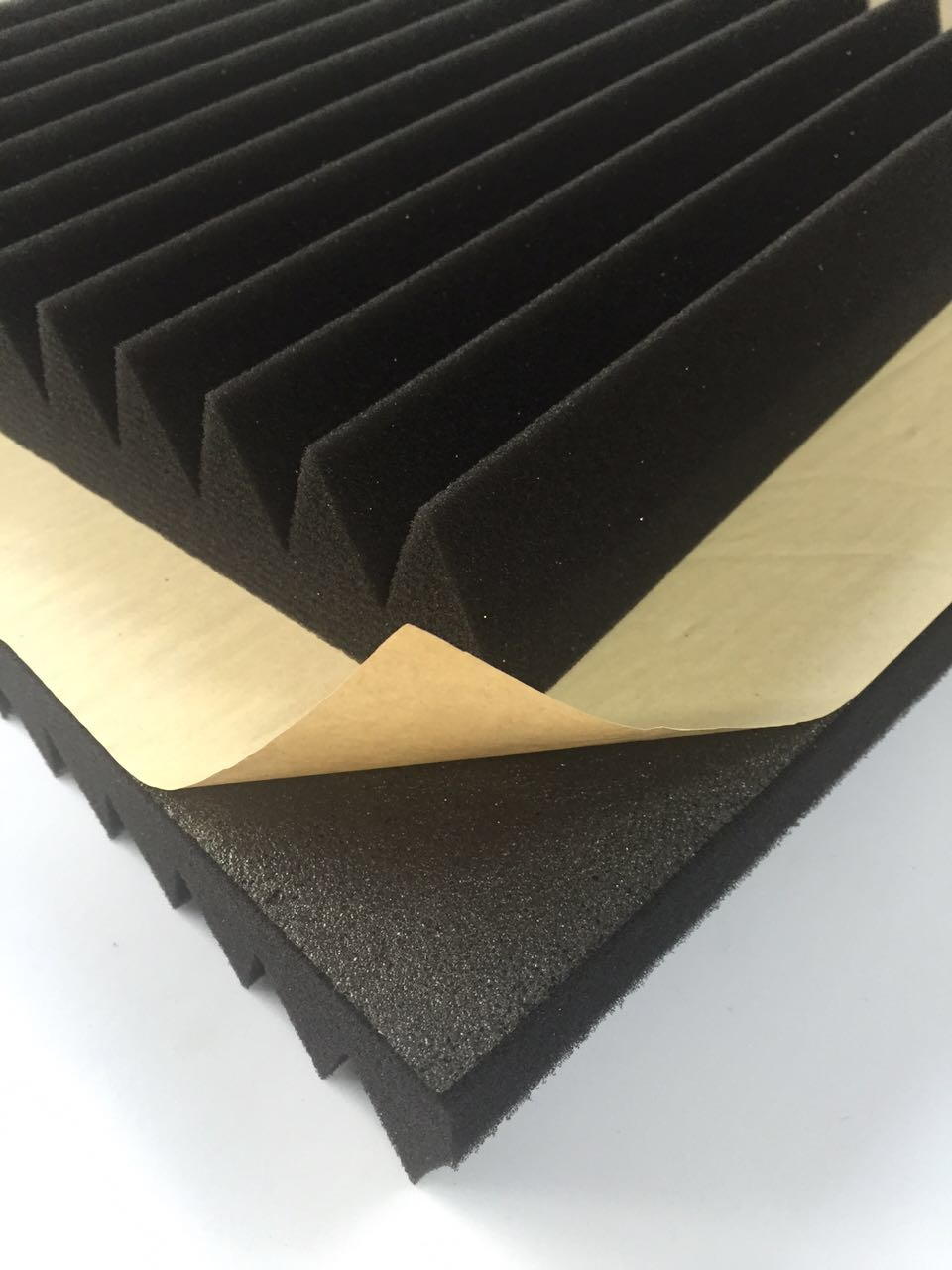 Foam Wall Panels : Soundproof acoustic foam wall panel with self adhesive
