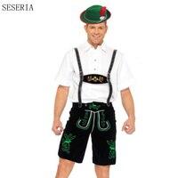 SESERIA 3 Pcs Hot German Beer Man Costume Adult Oktoberfest Costume Mens Cosplay Costumes Plus Size S M L XL XXL